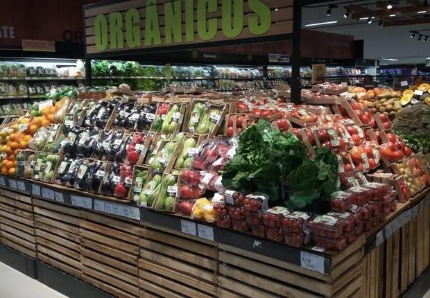 Produtos orgânicos embalados no Carrefour (Foto: Divulgação/Carrefour)