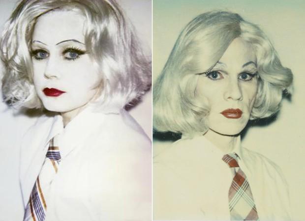 Amy Adams e Andy Warhol (Foto: Reprodução/ Instagram)