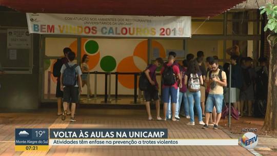 Ação para prevenir trotes violentos marca retorno às aulas na Unicamp