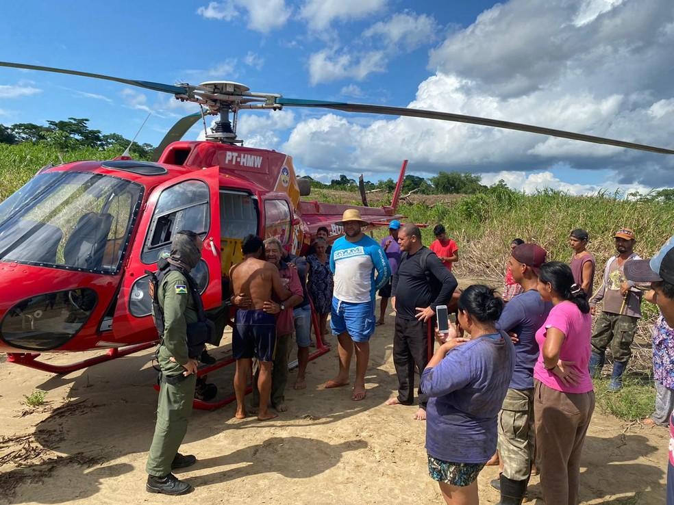 Francisco Mendes Nogueira, de 62 anos, foi localizado após 10 dias de desaparecimento  — Foto: Corpo de Bombeiros/Reprodução