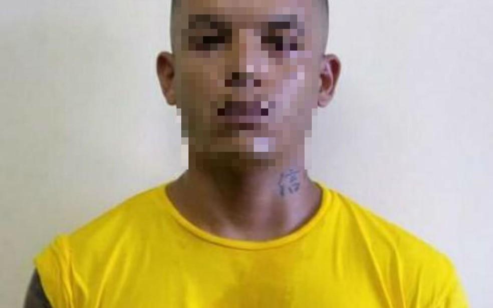 Homem foi preso por suspeita de invadir e roubar o Terreiro Ilê Axé Ojisé Olodumare — Foto: Divulgação/SSP-BA