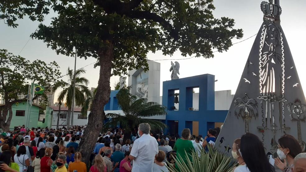 Procissão de Nossa Senhora Aparecida em Natal, RN — Foto: Sérgio Henrique Santos/Inter TV Cabugi