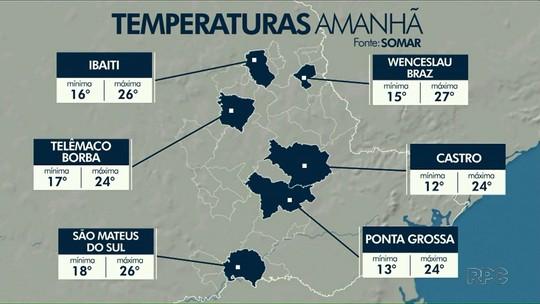 Confira como fica a previsão do tempo para Ponta Grossa e região nesta quinta-feira (18)