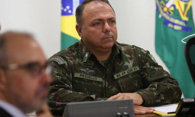 O general Eduardo Pazuello, que assume como número dois do Ministério da Saúde
