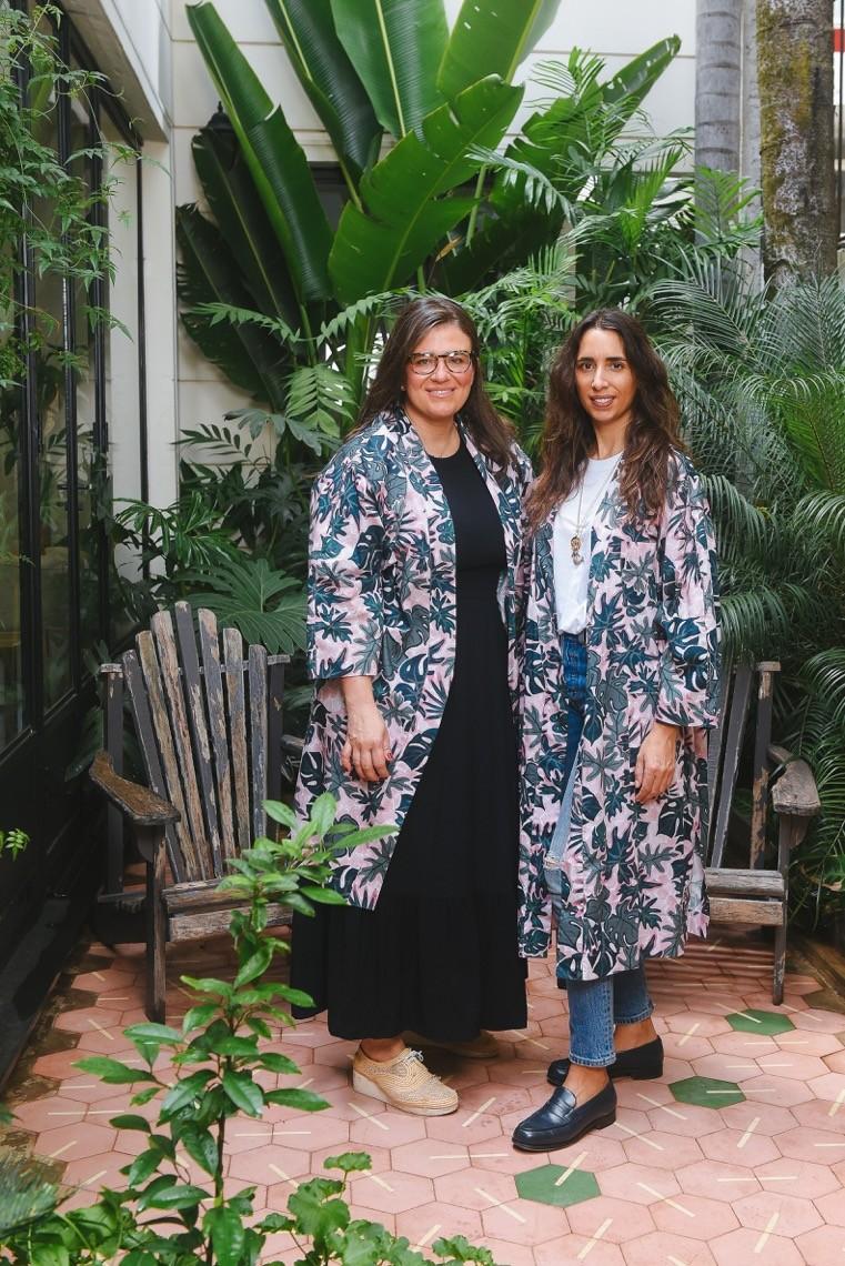 Olivia Camplez da Dominique Maison de Beauté e Ale Affonso Ferreira da Sissa armam parceria inédita com quimono feito à mão (Foto: Divulgação)
