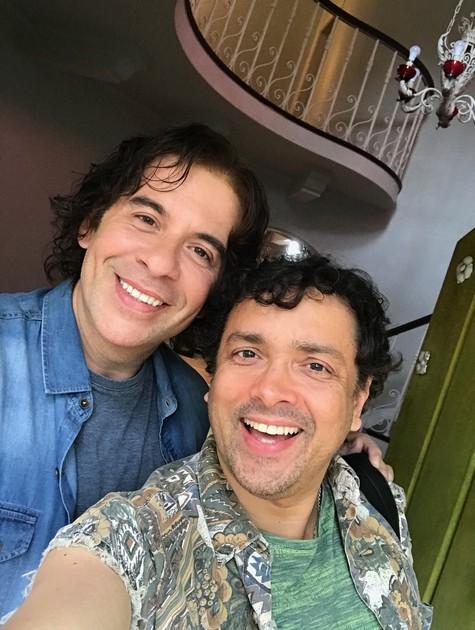 Leandro Hassum e Rodrigo Fagundes (Foto: Arquivo pessoal)