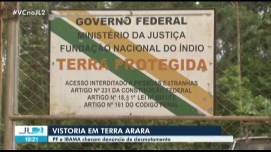 Ibama e PF encontram 'situações pontuais de desmatamento' em terra indígena no PA e negam invasão de madeireiros