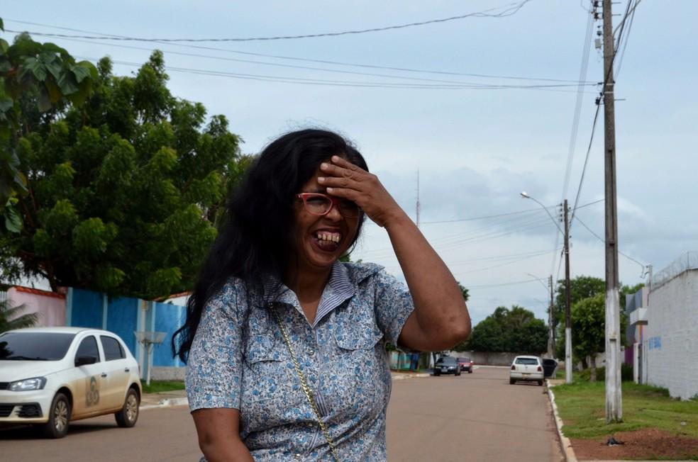 Sandra fala sobre sonho de fazer faculdade (Foto: Aline Lopes/G1)