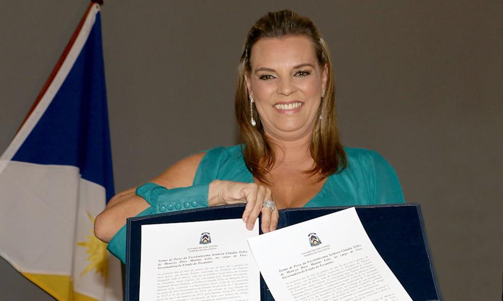 Cláudia Lelis foi eleita para o primeiro mandado de deputada — Foto: Ademir dos Anjos/Divulgação ATN