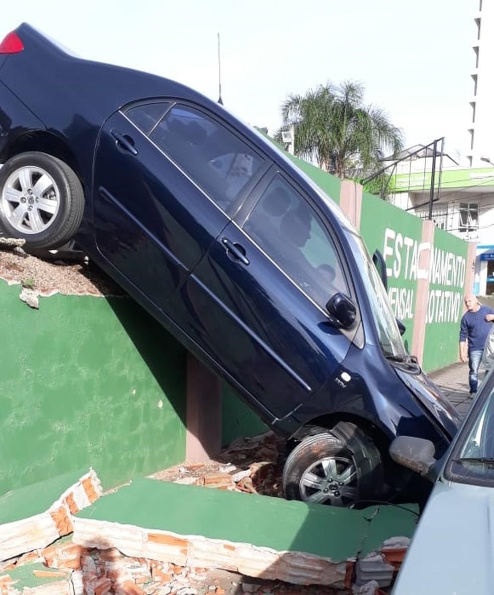 Motorista do veículo não se feriu. — Foto: Arquivo pessoal