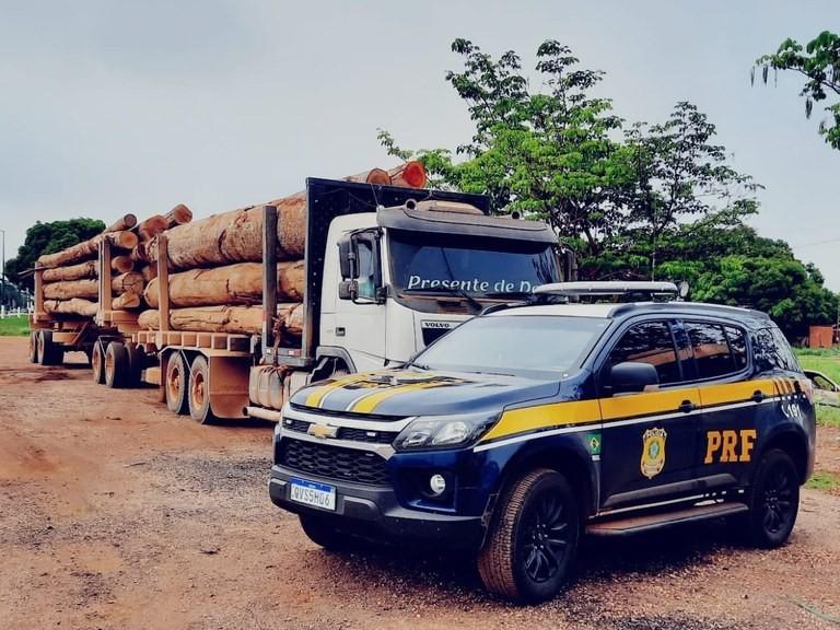 Cerca de 89m³ de toras de madeira transportadas ilegalmente são apreendidos no Pará