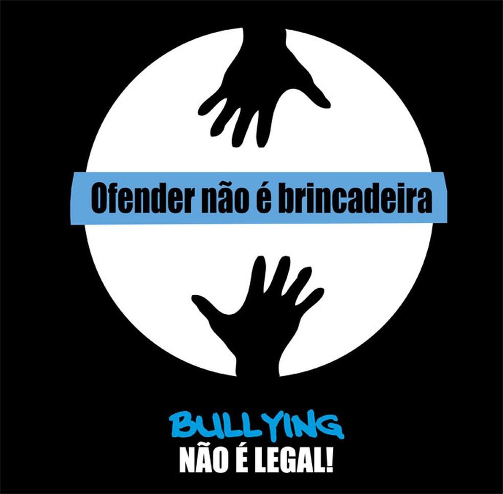 Cartaz de projeto contra o bullying do Coleguium Rede de Ensino (Foto: Divulgação)