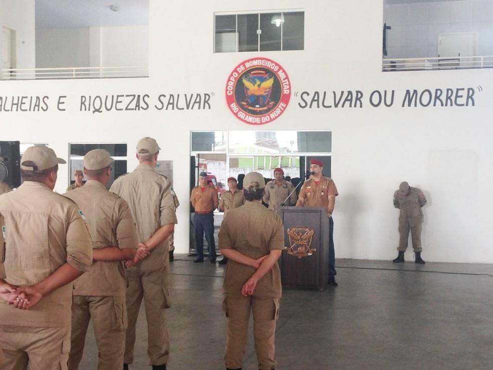 Curso de formação de praças do Corpo de Bombeiros do RN começou na semana passada — Foto: CBM-RN