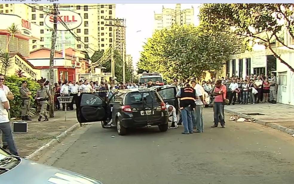 Valério Luiz foi assassinado a tiros dentro do carro ao sair do trabalho — Foto: Reprodução/ TV Anhanguera