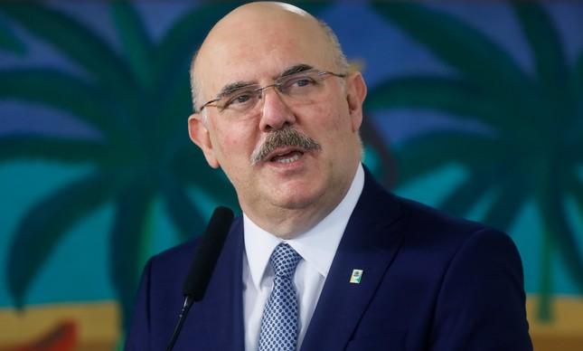 O ministro da Educação, Milton Ribeiro, toma posse no Planalto