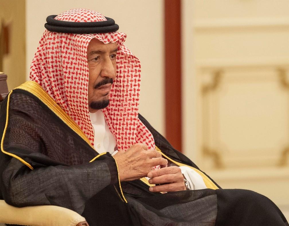 O rei da Arábia Saudita, Salman bin Abdulaziz. — Foto: Bandar Algaloud/Courtesy of Saudi Royal Court/Handout via Reuters
