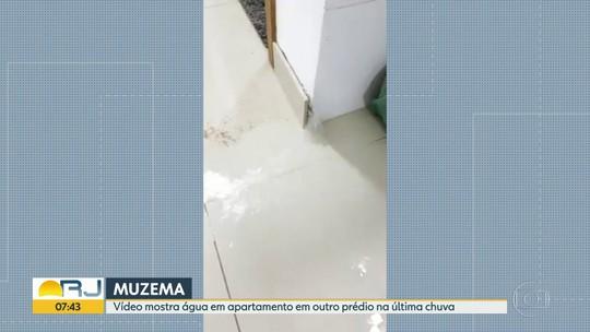 Vídeo mostra água em apartamento em outro prédio da Muzema