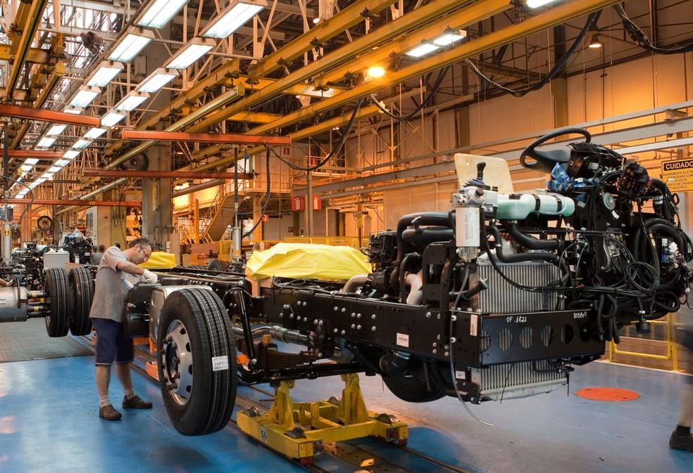 Fábrica da Mercedes-Benz em São Bernardo do Campo — Foto: Divulgação