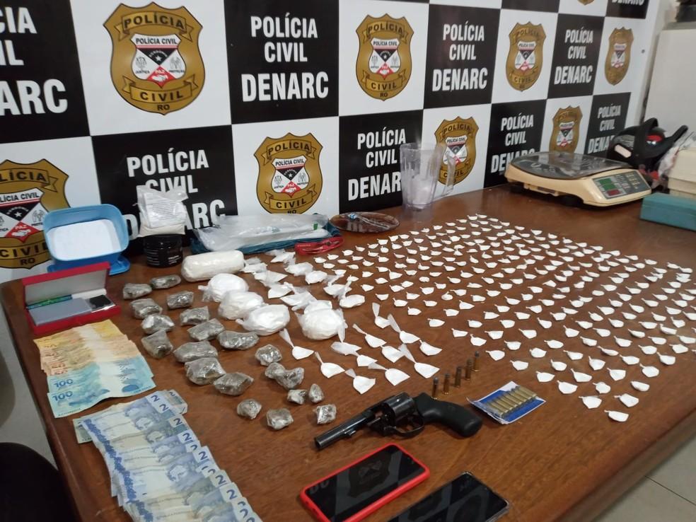Comandante de laboratório caseiro de confecção de drogas é preso em Porto Velho — Foto: Denarc/divulgação