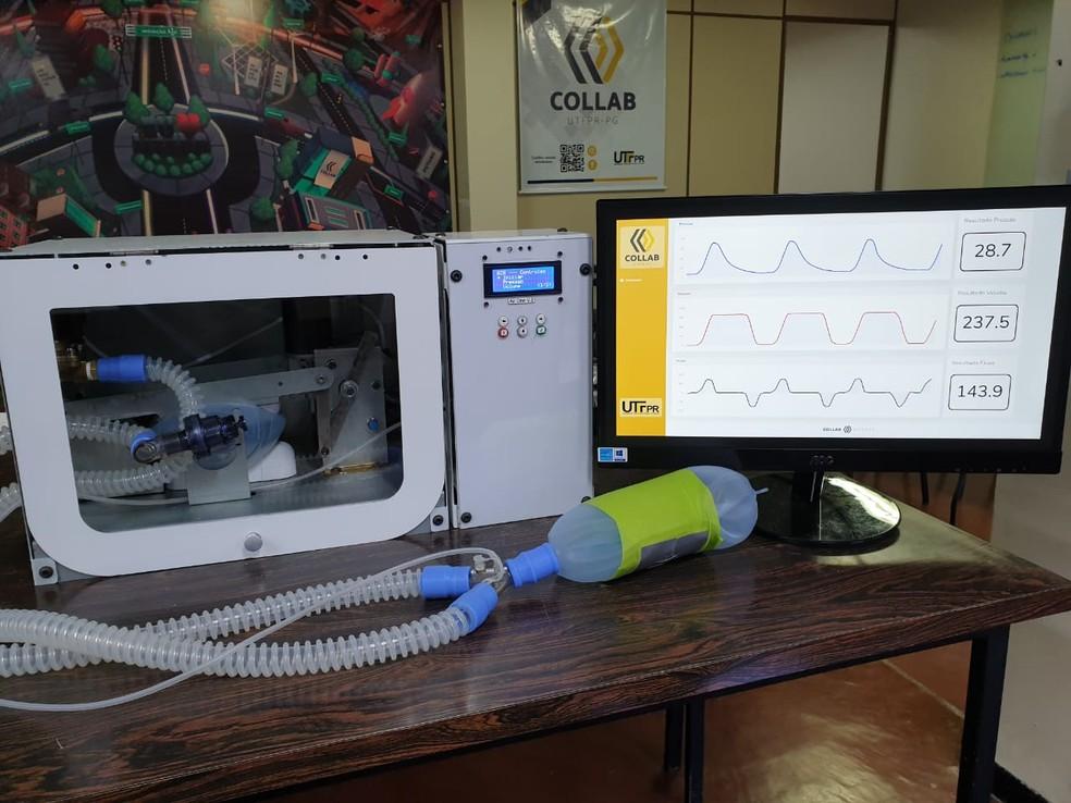 Modelo do ventilador AIR One desenvolvido pela UTFPR de Ponta Grossa — Foto: AIR One/UTFPR