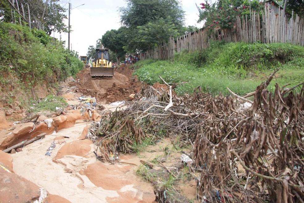 -  Quase 6 quilômetros de vias urbanas de Óbidos foram destruídos pelas enxurradas  Foto: Prefeitura de Óbidos/Divulgação