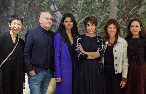 Xu Wang (AD China), Neale Whitake (Vogue Living Australia), Anindita Ghose (Vogue India), Marie Kalt, AD France, Taissa Buescu e Margaret Russell (AD USA)