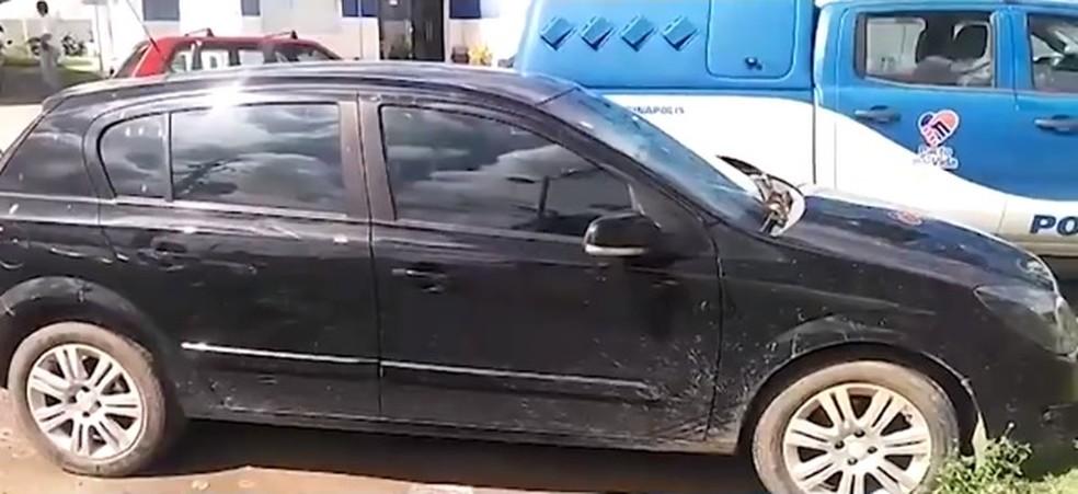 Carro da vítima foi usado no crime em Arraial D'ajuda, na Bahia — Foto: Reprodução/ TV Santa Cruz
