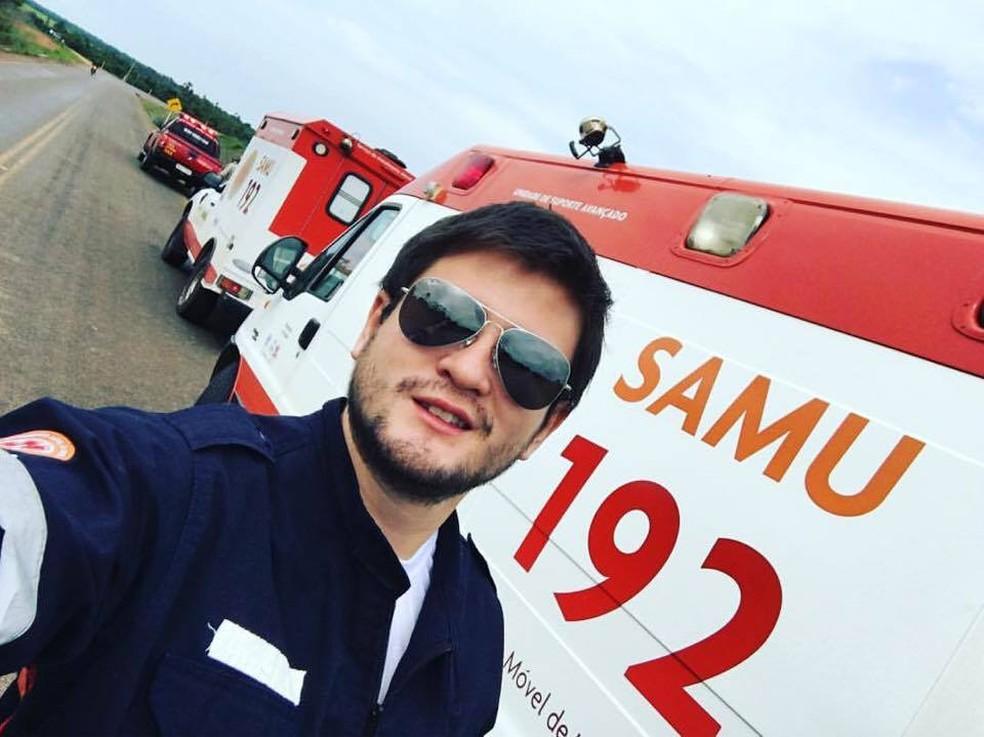 José Francisco Parada Saucedo, de 30 anos, dirigia uma caminhonete Hilux que capotou em Juína — Foto: Facebook