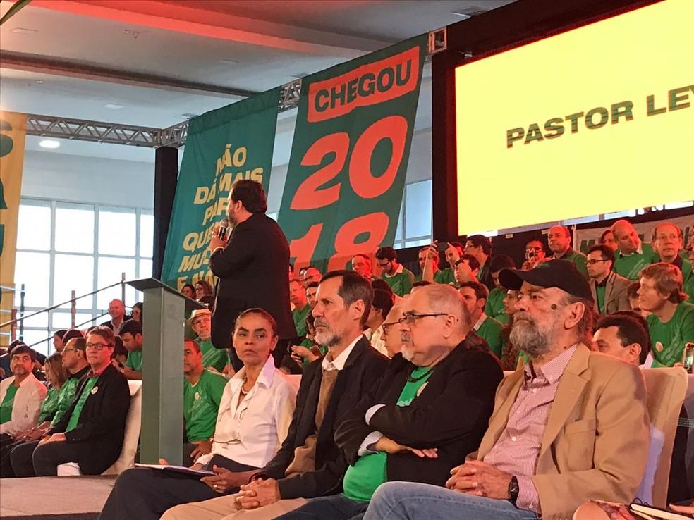 Marina Silva e Eduardo Jorge participaram de convenção da Rede em Brasília (Foto: Gustavo Garcia/G1)