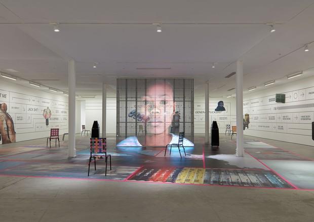 Instalação Martine Syms (Foto: Robert Glowacki / Sadie Coles)