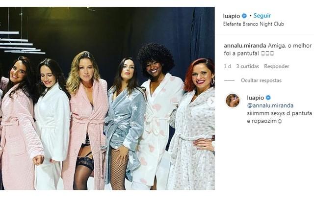 Luana posa com colegas de elenco em boate de Lisboa (Foto: Reprodução/Instagram)