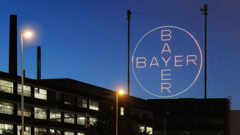 Logo da Bayer na sede da empresa em Leverkusen, na Alemanha (Foto: Divulgação)