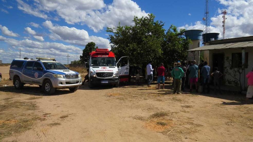 Conforme informações da Polícia Militar (PM) que atende na área, o caso ocorreu no Povoado de Cerradão, no domingo (18).   — Foto: Blog Braga