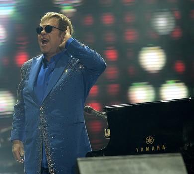 Elton John no Rock in Rio em setembro deste ano (Foto: Alexandre Loureiro/Getty Images)