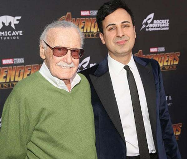 Stan Lee e Keya Morgan em abril deste ano em evento em Los Angeles (Foto: Jesse Grant/Getty Images)