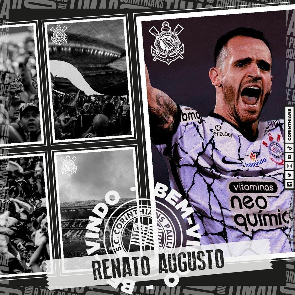 Corinthians anuncia Renato Augusto — Foto: Divulgação