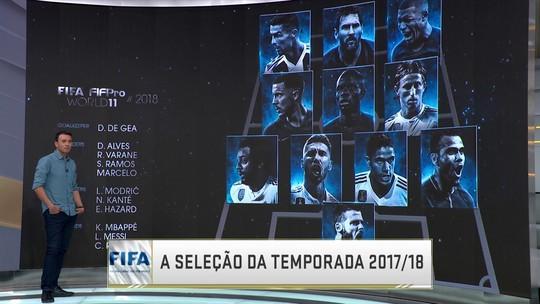 Comentaristas analisam a seleção dos melhores jogadores do mundo da Fifa
