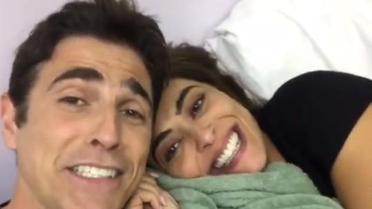 Juliana Paes e Reynaldo Gianecchini mostram expectativa para cena de 'A Dona do Pedaço': 'A gente espera desde a sinopse'