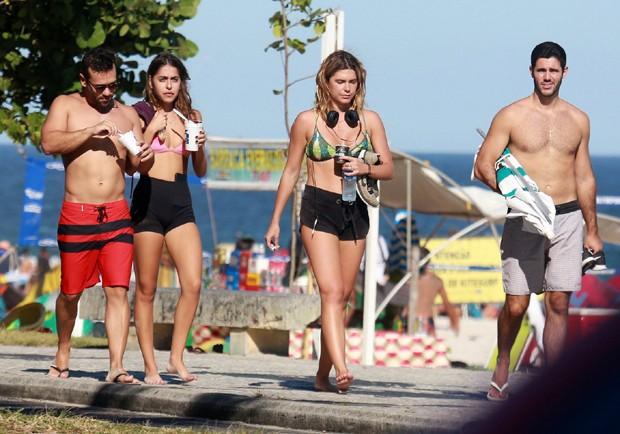 Mariana Goldfarb e amigos (Foto: AgNews)