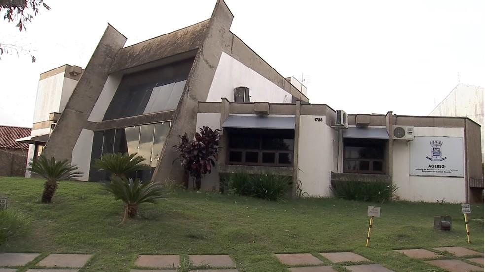 Sede da Agereg, em Campo Grande — Foto: TV Morena/Reprodução