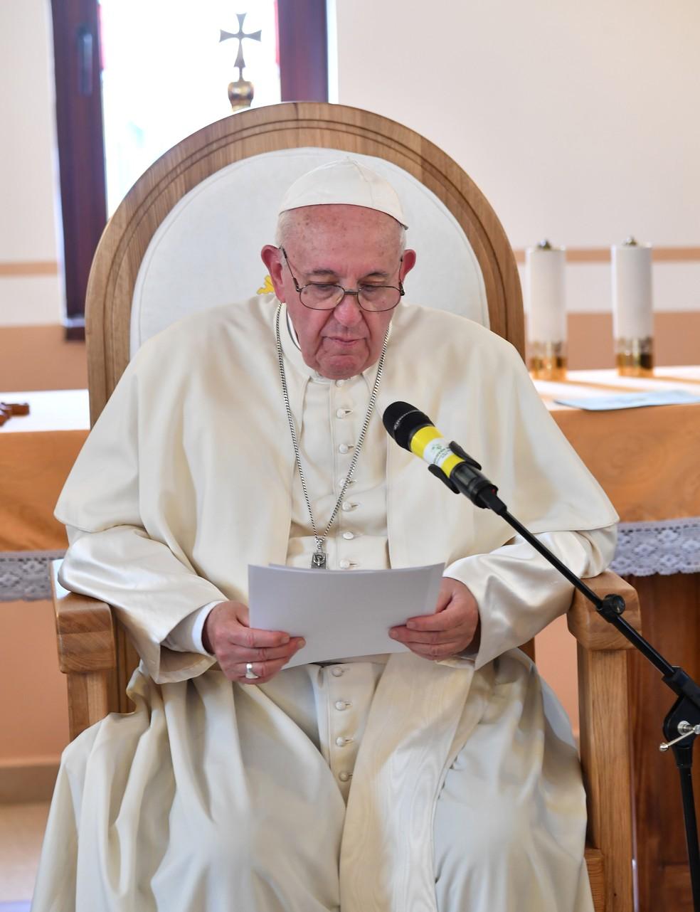 Papa Francisco, em imagem de arquivo — Foto: Andreas Solaro/Pool via REUTERS