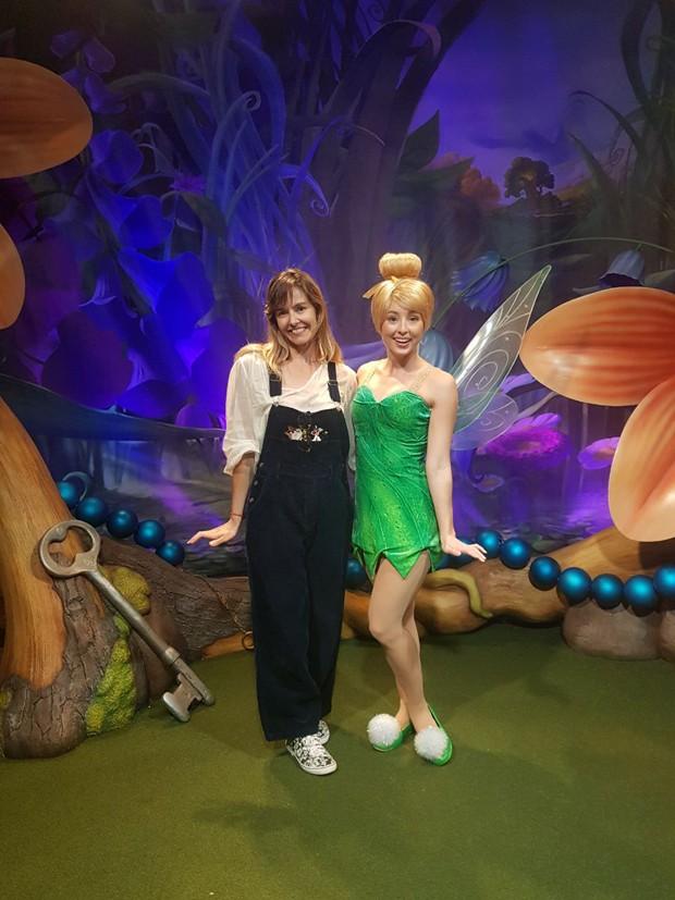Bianca Rinaldi e a fada Sininho, personagem do clássico Peter Pan (Foto: Arquivo pessoal)