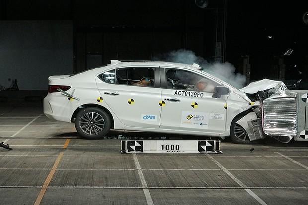 Honda City Crash Test (Foto: Divulgação)