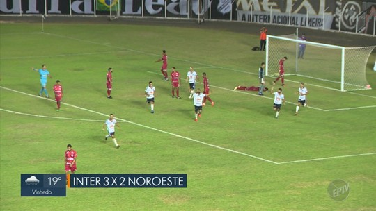 Em jogo com cinco gols, Inter de Limeira vence duelo direto com Noroeste pela Copa Paulista