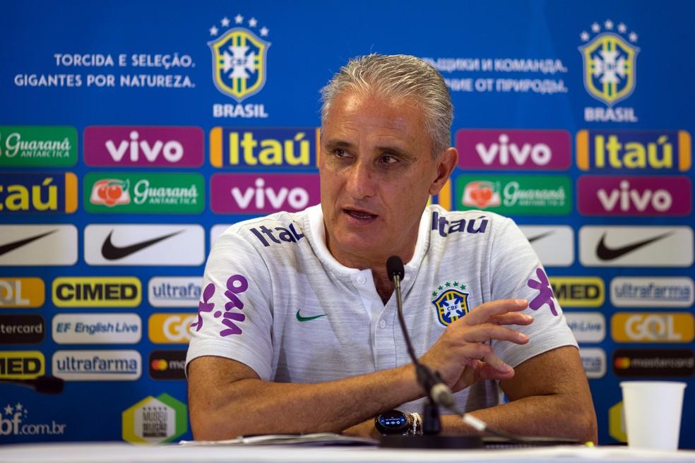 Tite lembrou os desafios de um amistoso tão próximo da estreia na Copa do Mundo (Foto: Pedro Martins/MoWa Press)