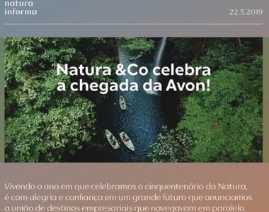 Anúncio para colaboradores da Natura sobre compra da Avon (Foto: Reprodução)