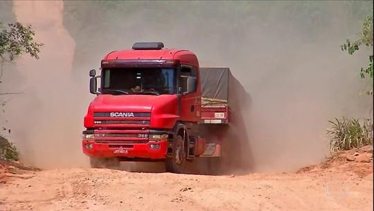 Estradas precárias prejudicam o transporte de cargas em Mato Grosso