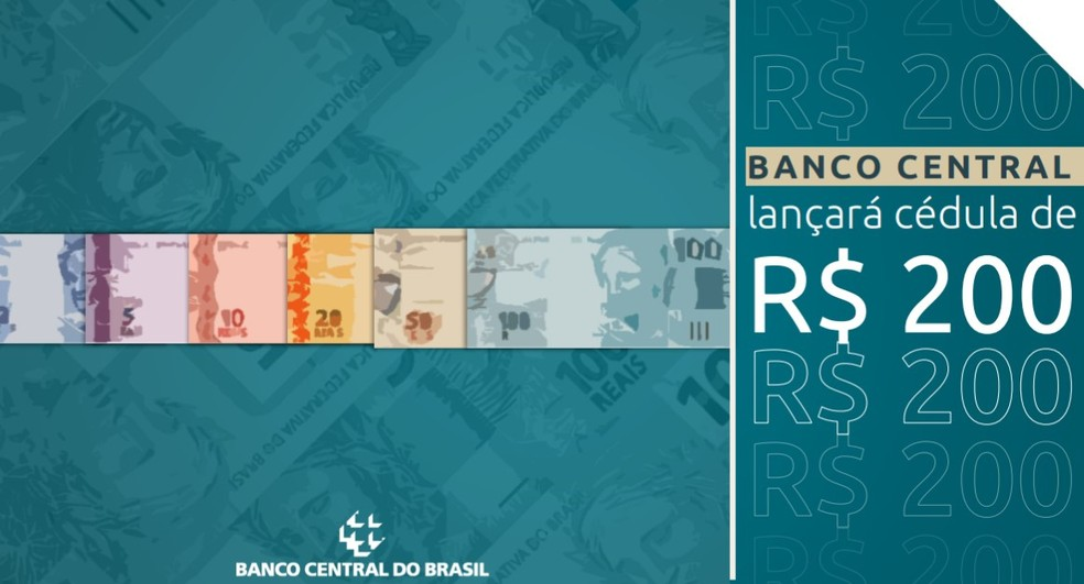 Presentation image made by the Central Bank Administration director, Carolina de Assis Barros, about the new R $ 200 note - Photo: Reproduction / Central Bank