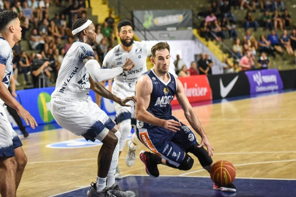 O Mogi venceu os dois confrontos na última edição do NBB contra o Bauru — Foto: Victor Lira/Bauru Basket