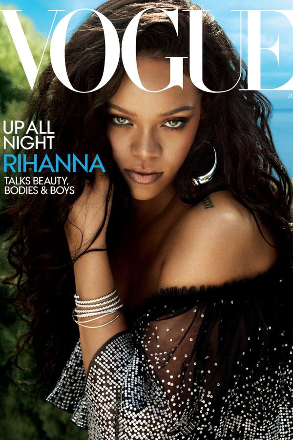 Rihanna na capa da Vogue America de junho/2018. (Foto: Vogue America)